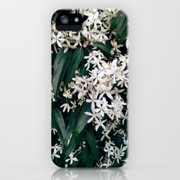 Green and White iPhone Case