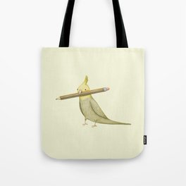 Cockatiel & Pencil Tote Bag