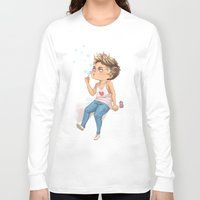 niall Long Sleeve T-shirts featuring Bubble Niall by RockitRocket