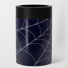 Spiderweb on Midnight Can Cooler