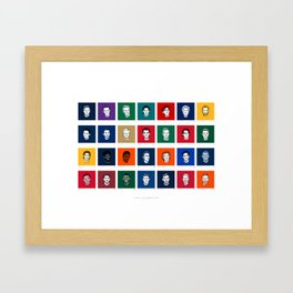 Player a Day Poster 2018 Framed Art Print