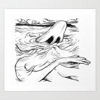 breathe Art Prints featuring Breathe by MrCapdevila / Bingo