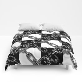 Chained Checkers Comforters