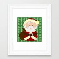 santa Framed Art Prints featuring Santa by Alapapaju