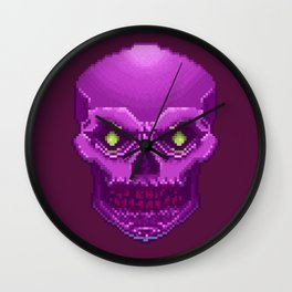 Pxl_Skull Wall Clock