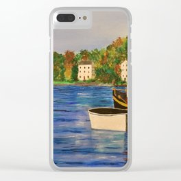 Peaceful Harbor Clear iPhone Case