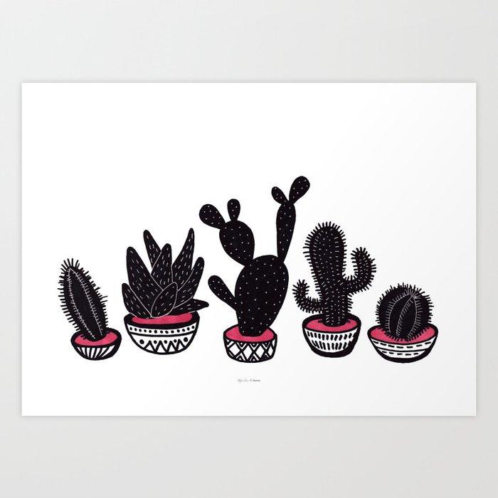 cactus row Art Print