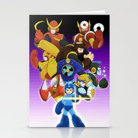 megaman Stationery Cards featuring Megaman 2 by Patrick Towers