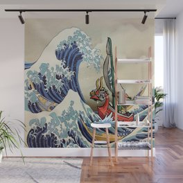 Great Wave + Link Wall Mural
