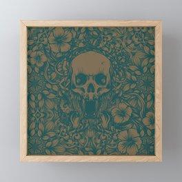 Blue Skull in jungle Framed Mini Art Print