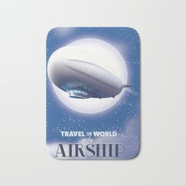 Travel the World - go by airship Bath Mat