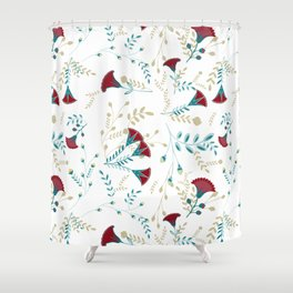 Egyptian Papyrus Flowers Shower Curtain