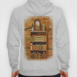 Log Cabin Bookcase Sketched Hoody