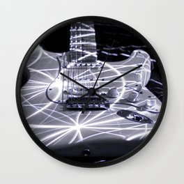 Strat Under Lasers Wall Clock