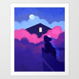 Light in the Window Art Print