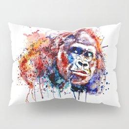 Gorilla Watercolor portrait Pillow Sham