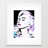 marilyn Framed Art Prints featuring Marilyn by Saundra Myles
