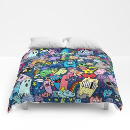 Doodle Monsters Party Night Comforters