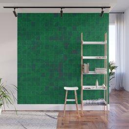Green Tiles Wall Mural