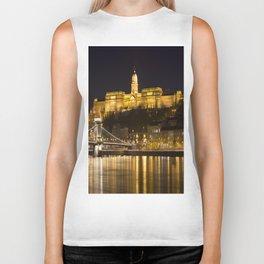 Budapest Chain Bridge And Castle Biker Tank