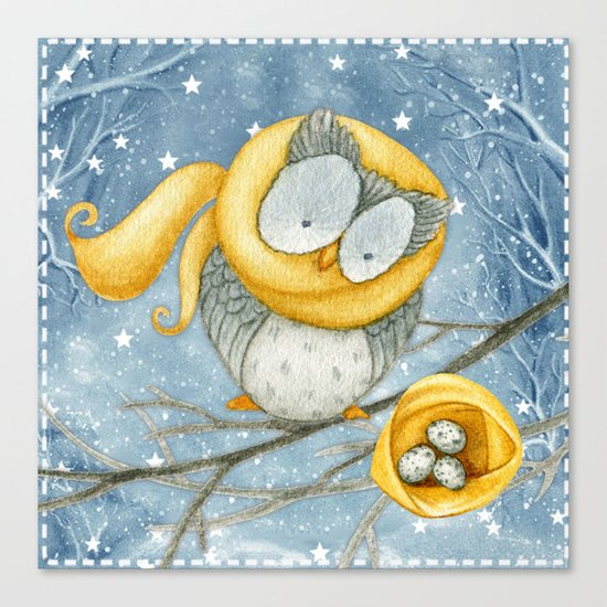 Winter animal #5 Canvas Print