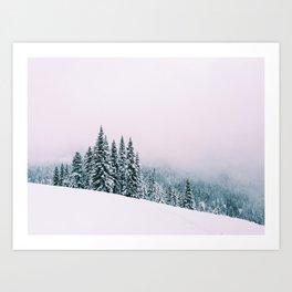 Angled Snow Art Print