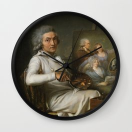 Pierre Lacour - The Artist Painting a Family Portrait Wall Clock