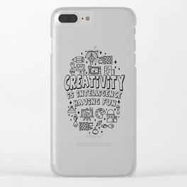 Creativity Intelligence Motivation teacher gift Clear iPhone Case