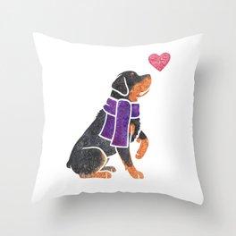 Watercolour Rottweiler Throw Pillow