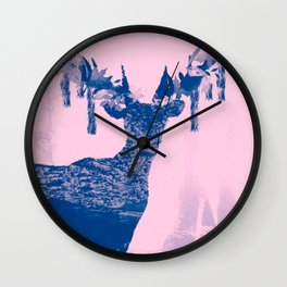 Hirsch Blue Wall Clock