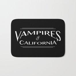 Vampires Of California Black and White Bath Mat