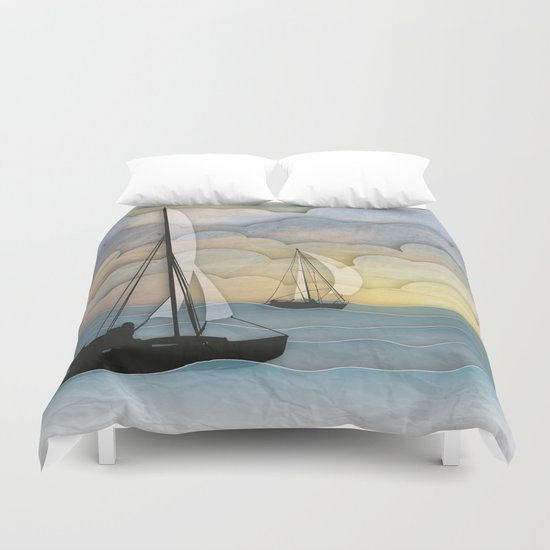 Sailing I Duvet Cover