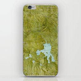 Map of Yellowstone 1898 iPhone Skin
