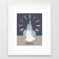 cinderella Framed Art Prints featuring Cinderella by magicblood