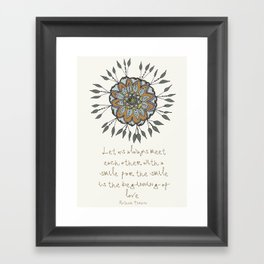 Shamuvel's mandala with a Mother Teresa Quote Framed Art Print
