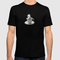 Pup in a Cup Mens Fitted Tee Black MEDIUM