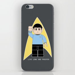Live Long and Prosper  (Lego Spock - Star Trek) iPhone Skin