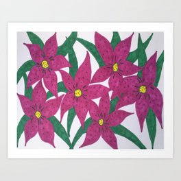 Ultra Violet Lily Bouquet Art Print