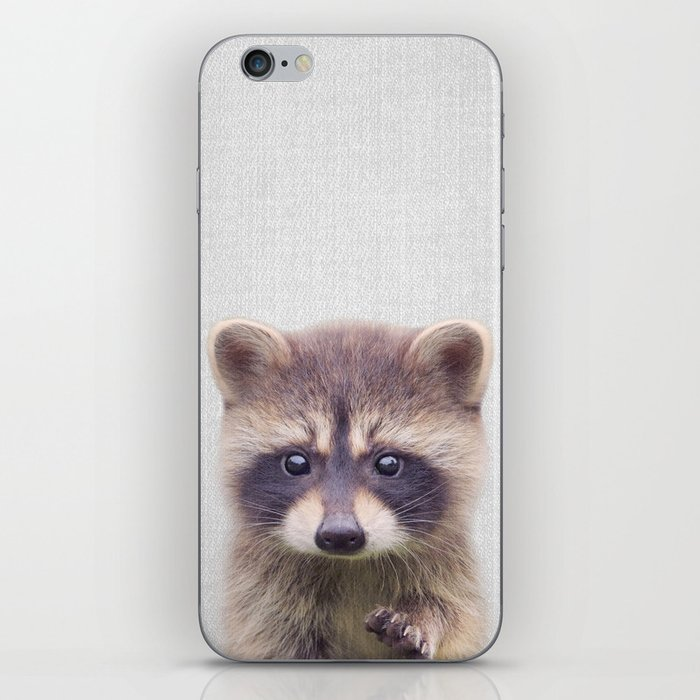 Raccoon - Colorful iPhone Skin