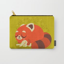 Sleeping Red Panda and Bunny / Cute Animals Carry-All Pouch