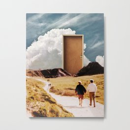 Walking Towards the Exit Together Metal Print