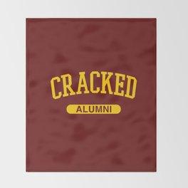 Cracked Alumni Throw Blanket