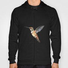 flying hummingbird watercolor sketch Hoody