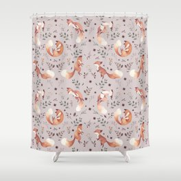 Fox pattern Shower Curtain