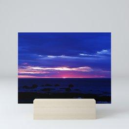Dusk on the Sea Mini Art Print