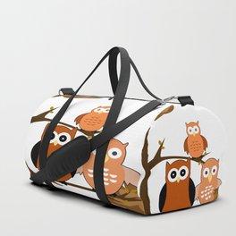 Orange Owls Duffle Bag