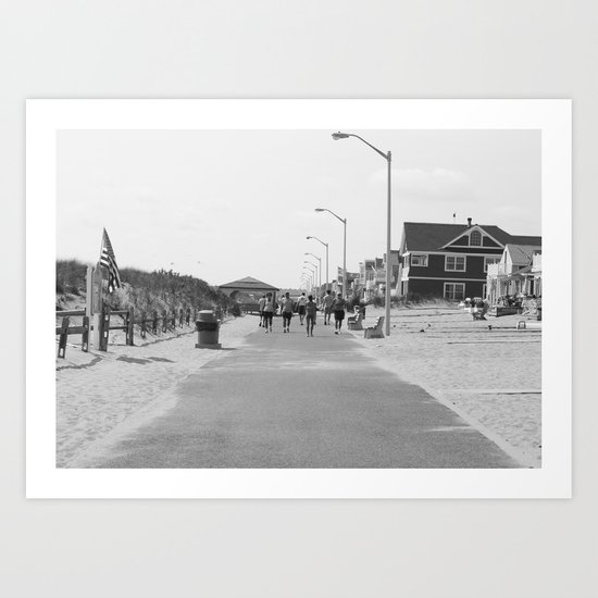 Manasquan Boardwalk Art Print