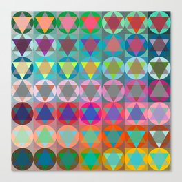Colorful Star Of David Pattern  Canvas Print