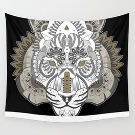 Zentangle Tiger 02  Wall Tapestry