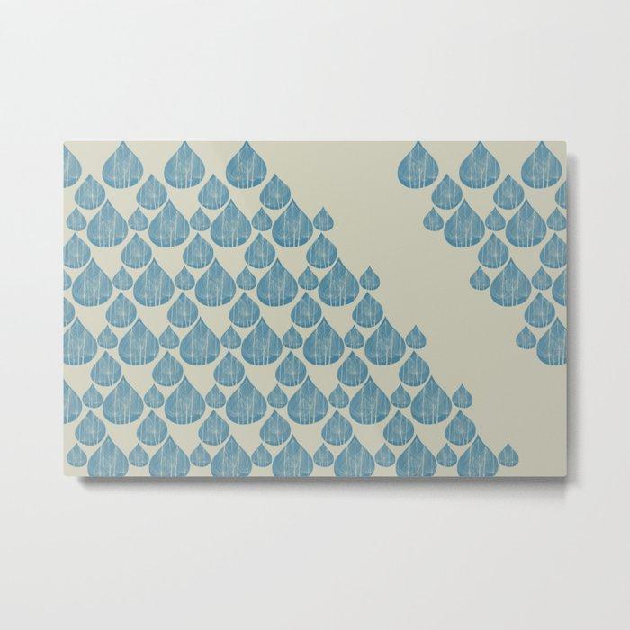 Blue drops Metal Print